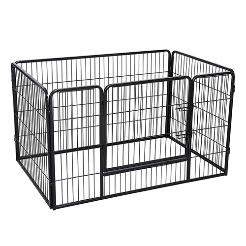 Black Portable Pet Playpen for Dogs