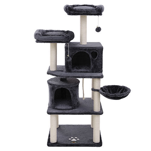 Smoky Grey Multilevel Cat Tower